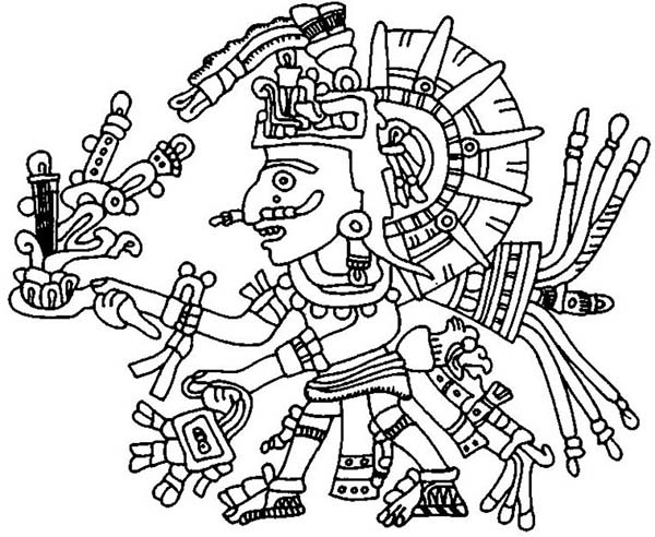 600x492 Marvelous Aztec Coloring Pages 76 For Your Line Drawings