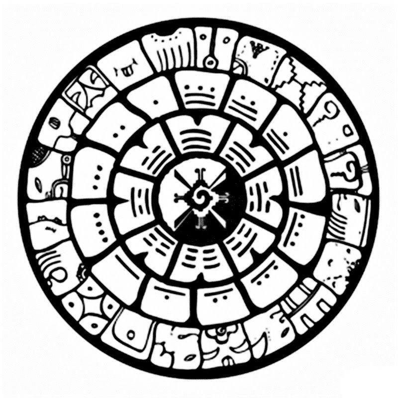 800x800 Aztec Calendar Coloring Sheet Coloring Page For Kids