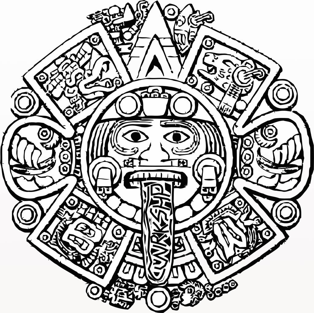 Calendario Azteca Vectores.Aztec Calender Drawing At Getdrawings Com Free For