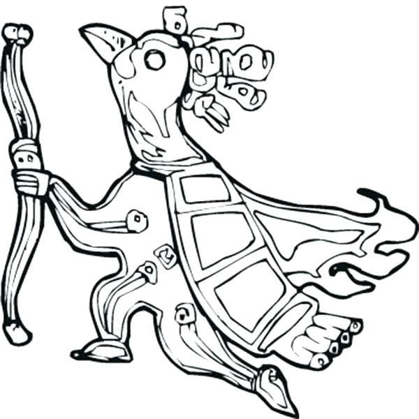 600x600 Aztec Coloring Pages Dragon A Coloring Pages For Free Aztec Animal