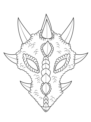358x480 Dragon Mask Coloring Page Free Printable Coloring Pages