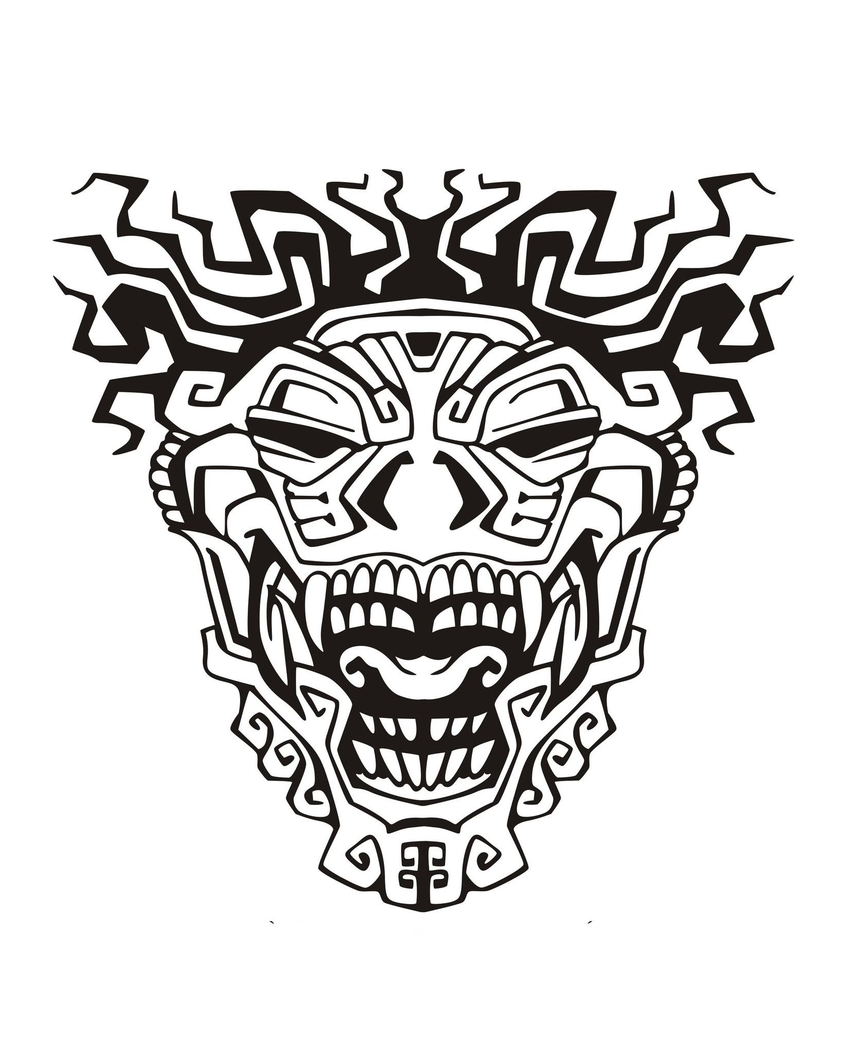 1636x2065 Mask Inspired By Aztecs, Mayans And Incas