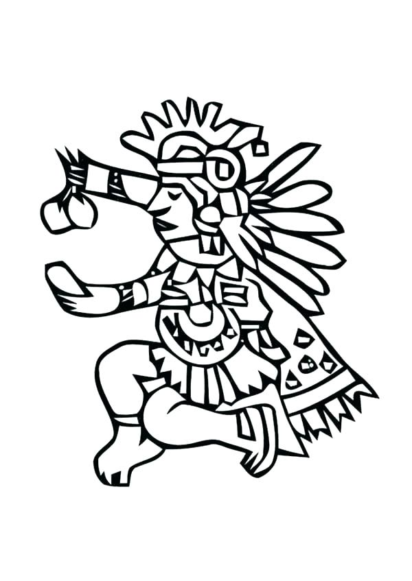 600x847 Aztec Mayan Coloring Pages Mythology Gods And Goddesses Printable