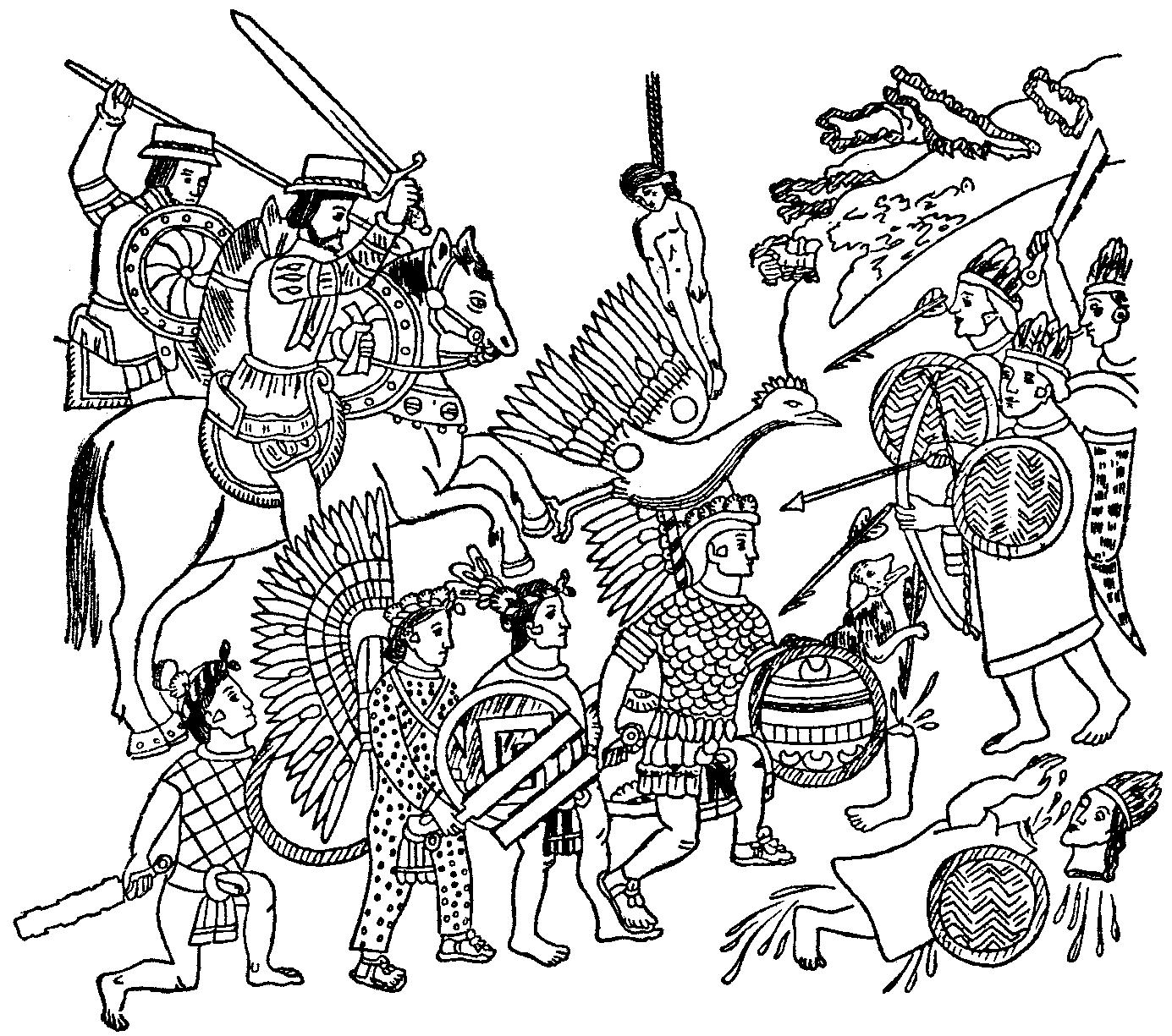 1385x1225 Aztec Mythology