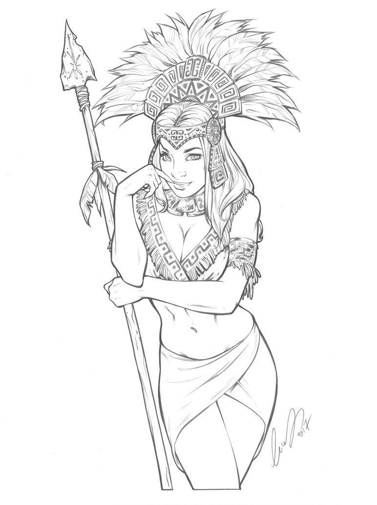 772x1034 Aztec Princess By Elias On @