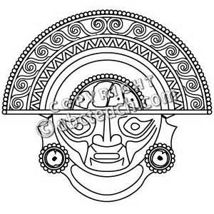 300x300 Aztec Warrior Clipart Drawing