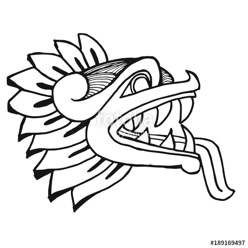 500x500 Mexican Aztec Drawing Tatoo Stock Image And Royalty Free Vector