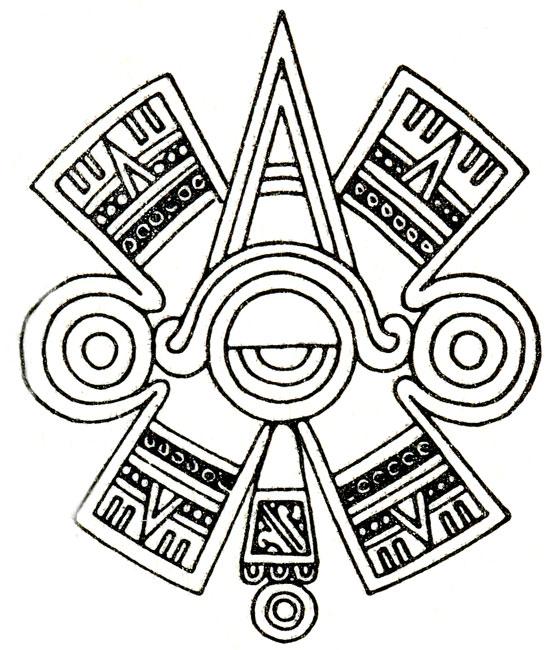 554x650 Aztec Ancient Drawing