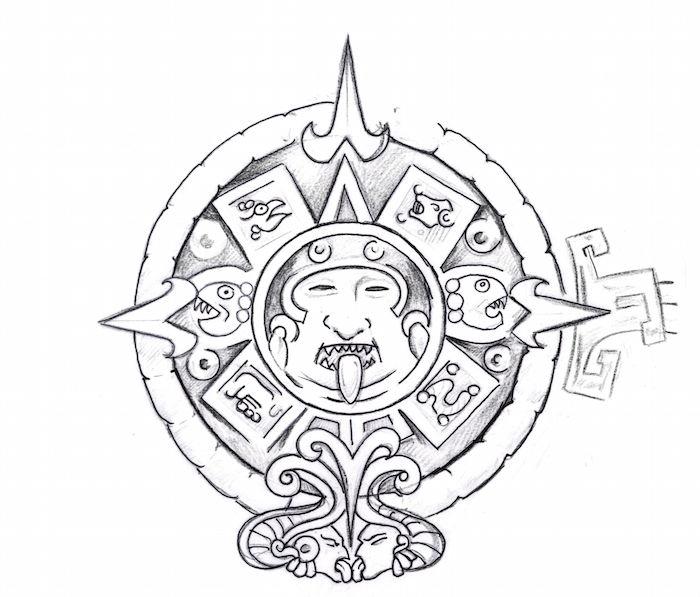 700x597 Aztec Tattoos