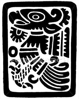 277x344 Mexican Golden Eagle Aztec Style Mi Cultura Mexicana