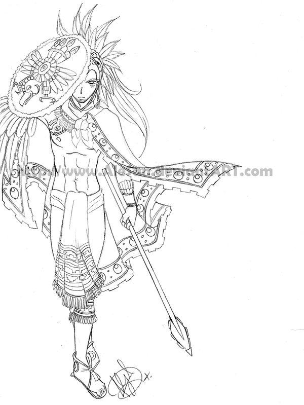 600x799 Mexico Aztec Eagle Warrior By Alesan
