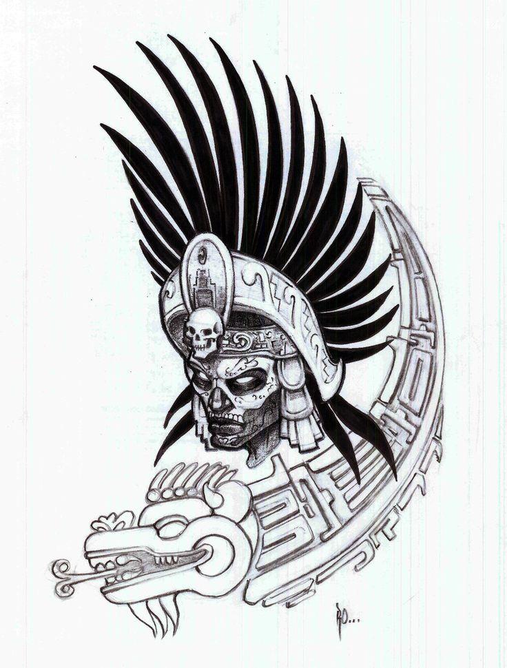 736x970 Tribal Warrior Tattoos Tribal Aztec Warrior Tattoo Tattoocake