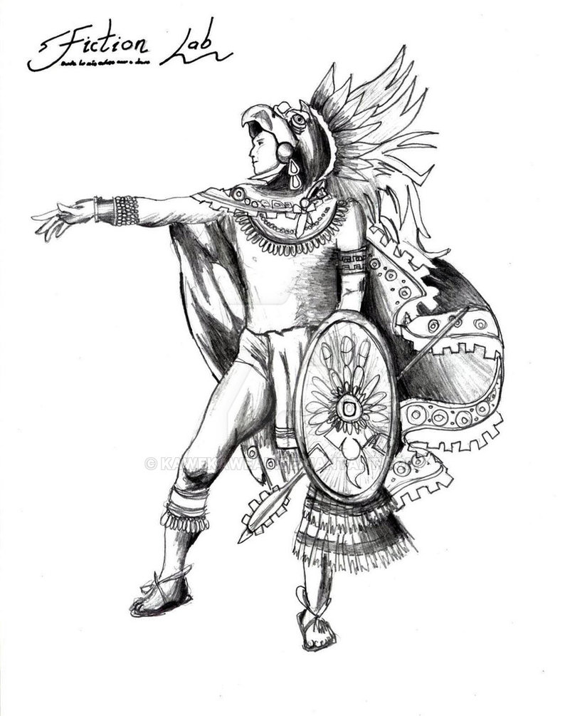 794x1005 Viva Mexico Eagle Warrior By Kawekaweau