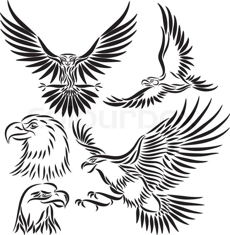 782x800 Abstract Eagle, Vector Illustration Stock Vector Colourbox