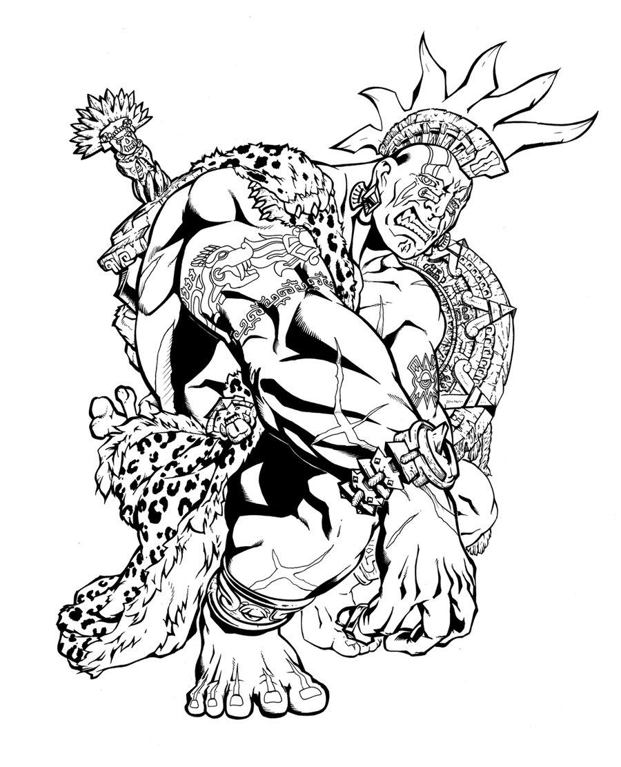 900x1111 Aztec Eagle Warrior Drawing