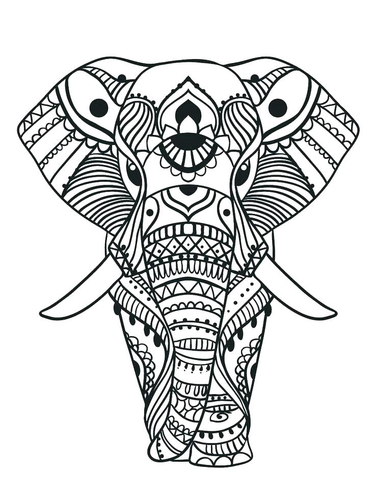 Aztec Elephant Drawing at GetDrawings