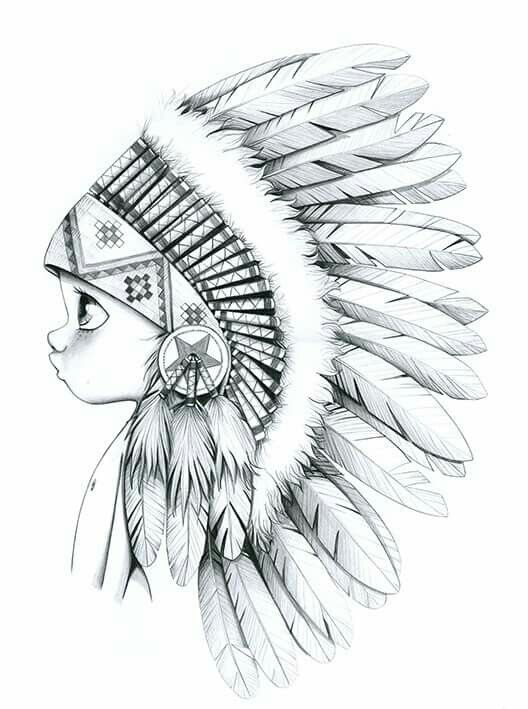 528x709 Big Chief Tattoo Idea's Drawings, Sketches And Tattoo