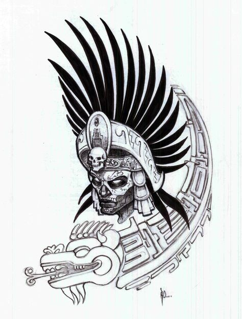 474x625 Rey Serpiente Art Tattoos Aztec Warrior, Tatoo