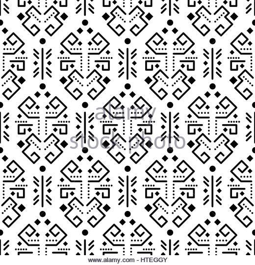 520x540 Tribal Seamless Pattern Aztec Black Stock Photos Amp Tribal Seamless