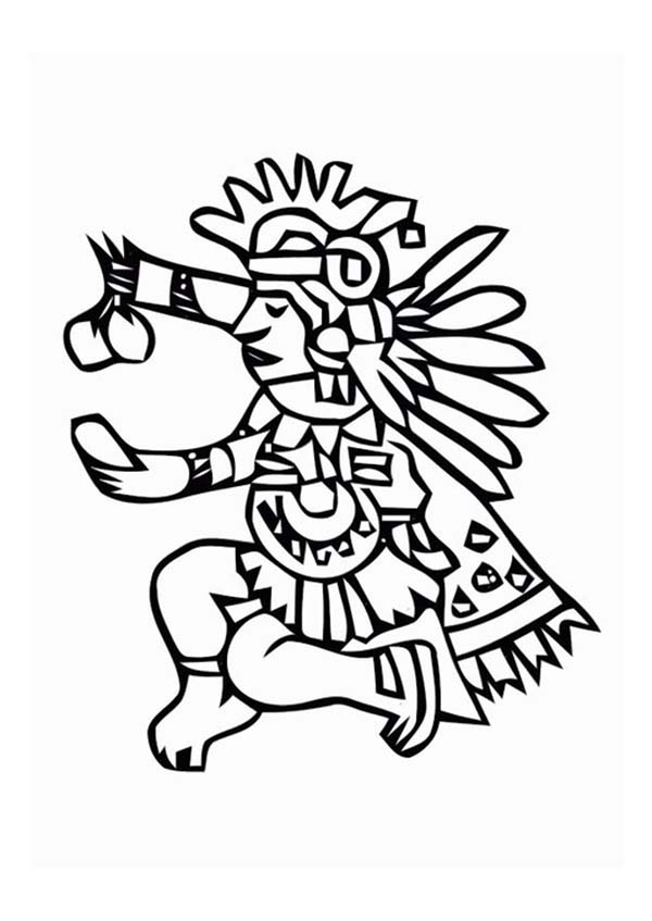600x847 Aztec Tlaloc Coloring Pages Bulk Color Aztec Aztec