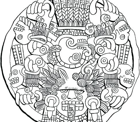 aztec pyramids coloring pages - photo#22