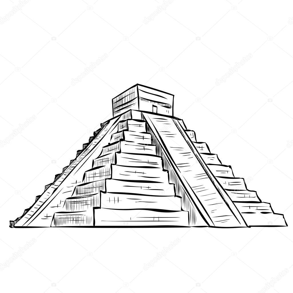 Aztec Pyramid Drawing At Getdrawings Com Free For