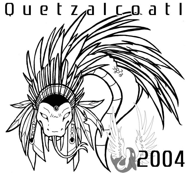 750x703 Aztec Quetzalcoatl Drawing