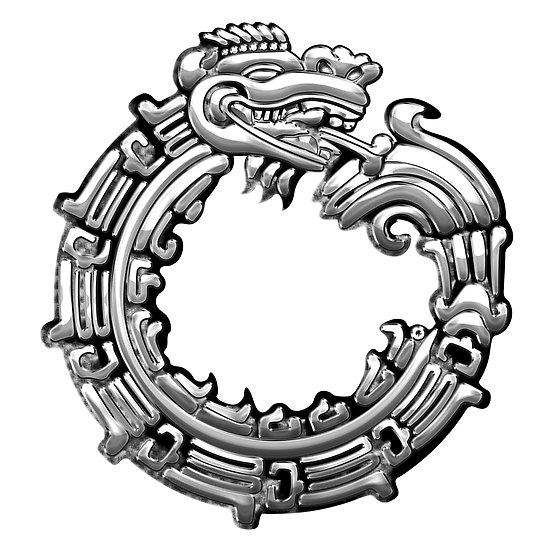 550x550 Aztec Serpent Quetzalcoatl 3d [Silver] By Captain7 Redbubble