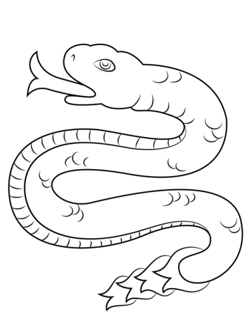358x480 Coatl Snake From Aztec Calendar Coloring Page Free Printable