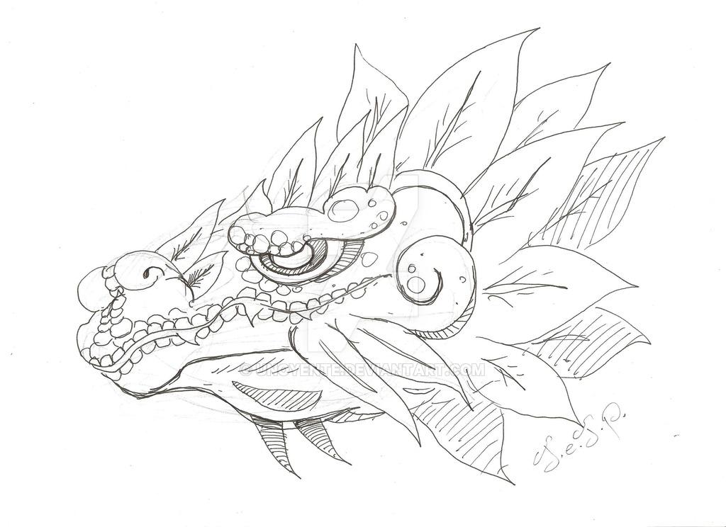 1024x744 Quetzalcoatl Sketch By Unoyente