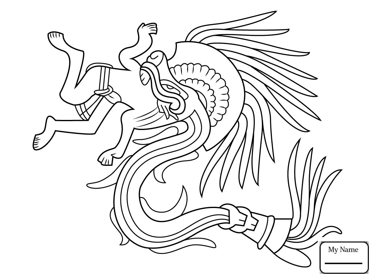 1223x912 History Aztec Jaguar Warrior Coloring Pages For Kids