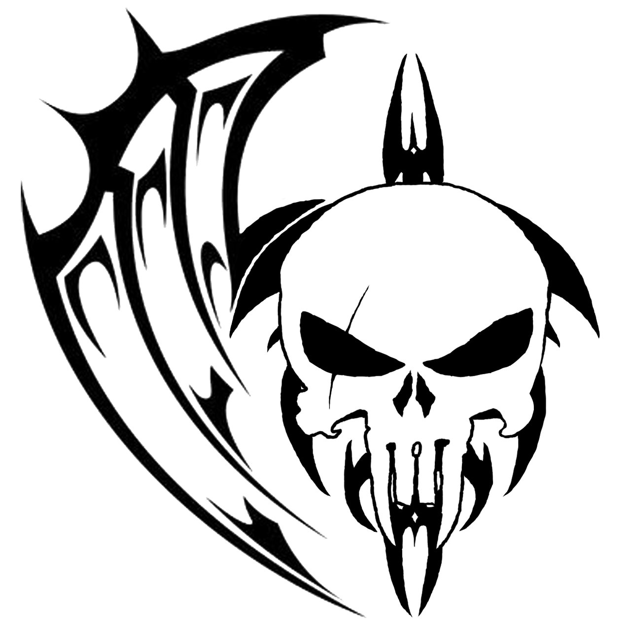 1280x1280 Aztec Tribal Skull Tattoo Designs Solid Tattoo Designs Tattoos