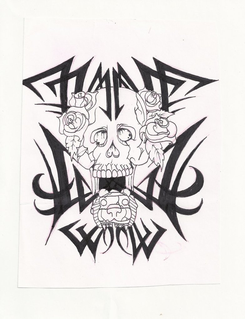 783x1021 Tribal Skull With Aztec Jaguar By Mon22king