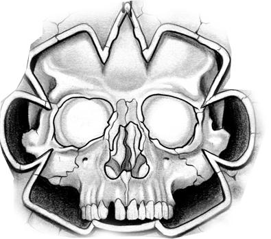 395x348 Aztec Skull Tattoo Design Tattoos Tattoo Designs