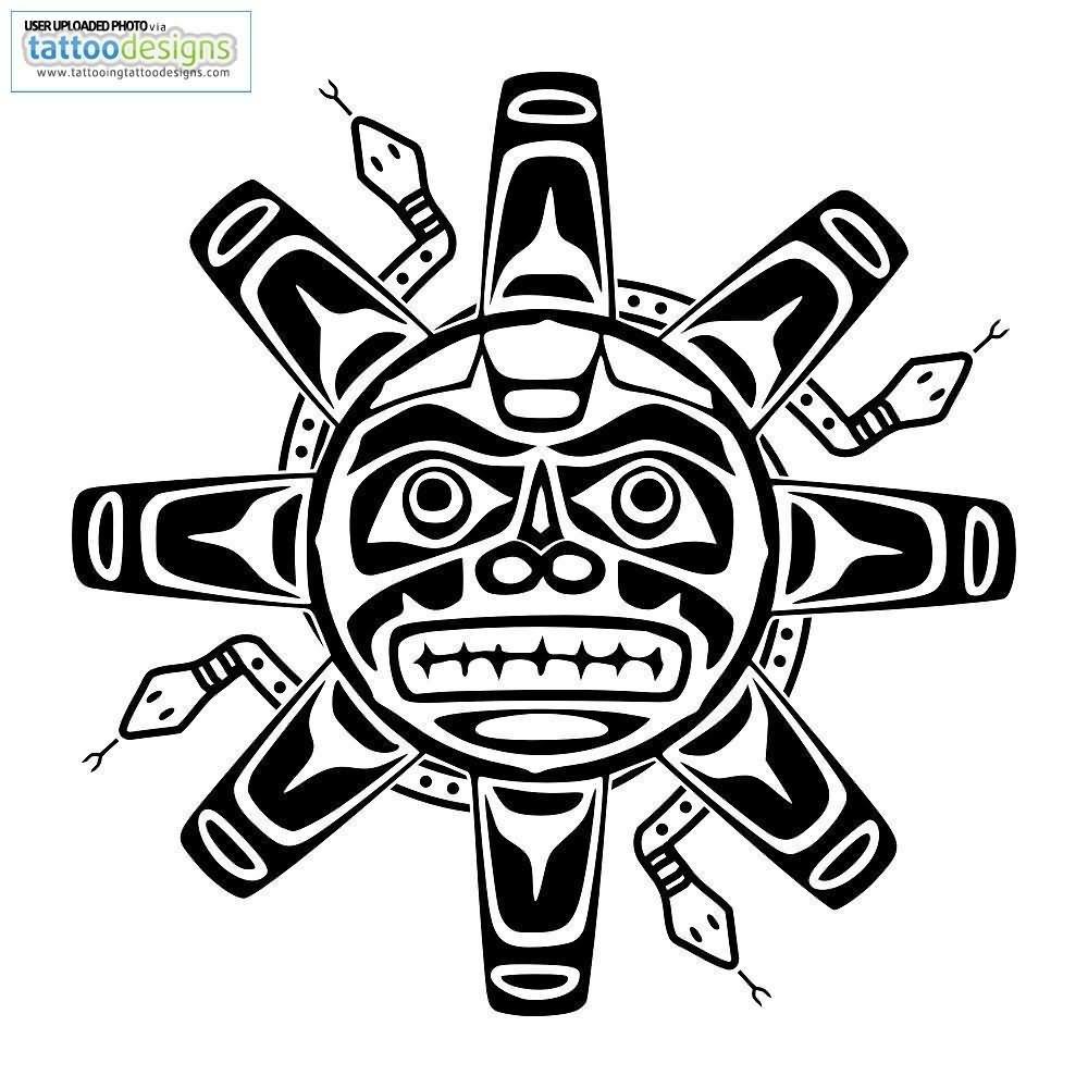 1000x1000 Aztec Sun Tattoo