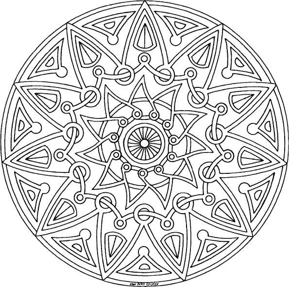 595x591 Sun Mandala Coloring Pages