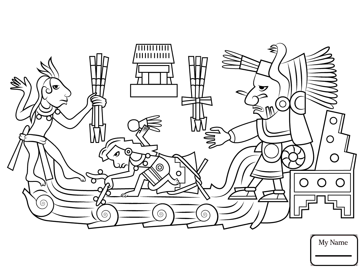 1223x912 Coloring Pages For Kids History Aztec Sun Stone