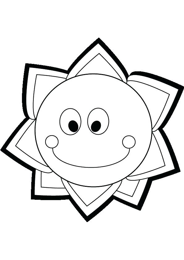 595x842 This Is Sun Coloring Page Images