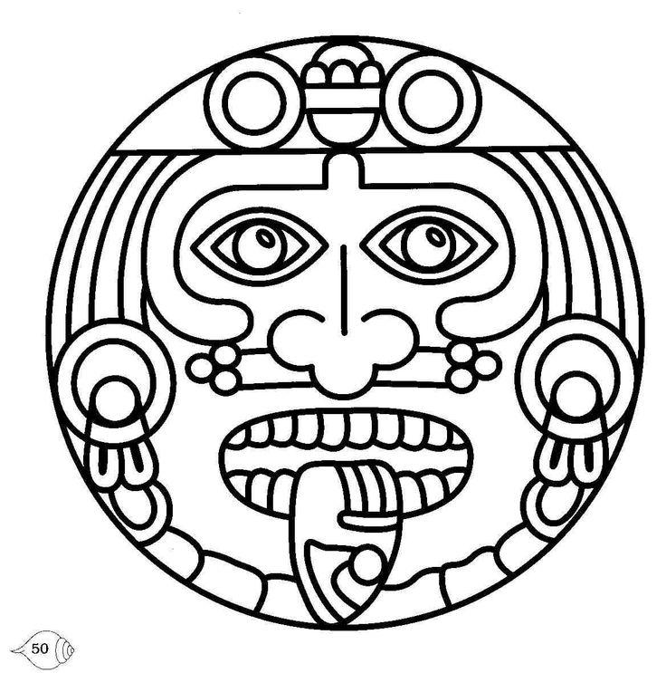 736x743 Aztec Moon Drawings Coyolxauhqui Aztec Moon Goddess Drawing