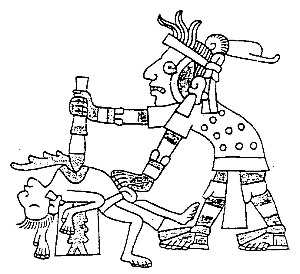 990x906 Codex Symbols Contemporary Aztec Drawing Of A Human Sacrifice