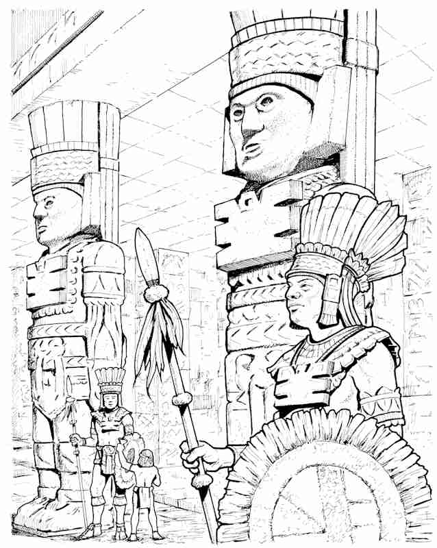Aztec Temple Drawing at GetDrawings.com | Free for personal use ...