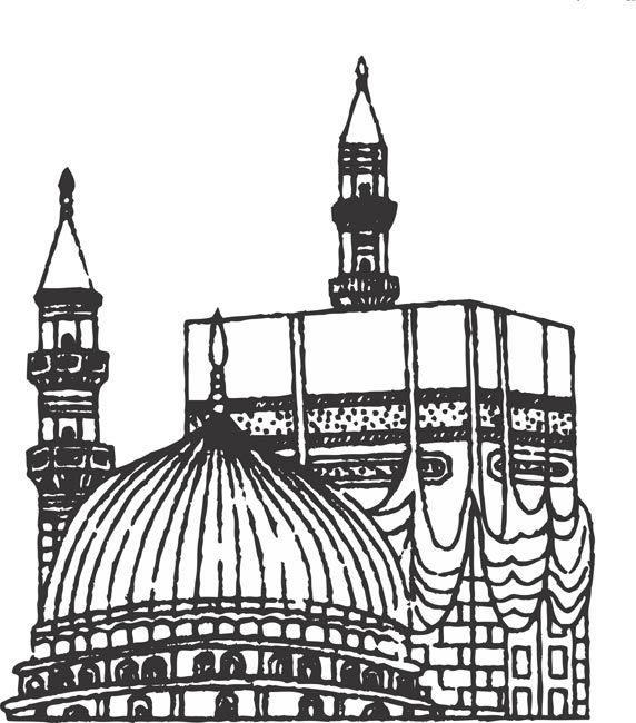572x650 Temple Clipart Black And White