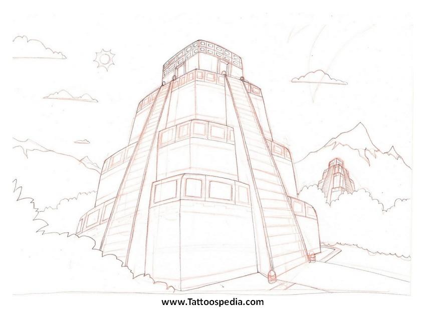 850x618 Aztec Temple Tattoos 5