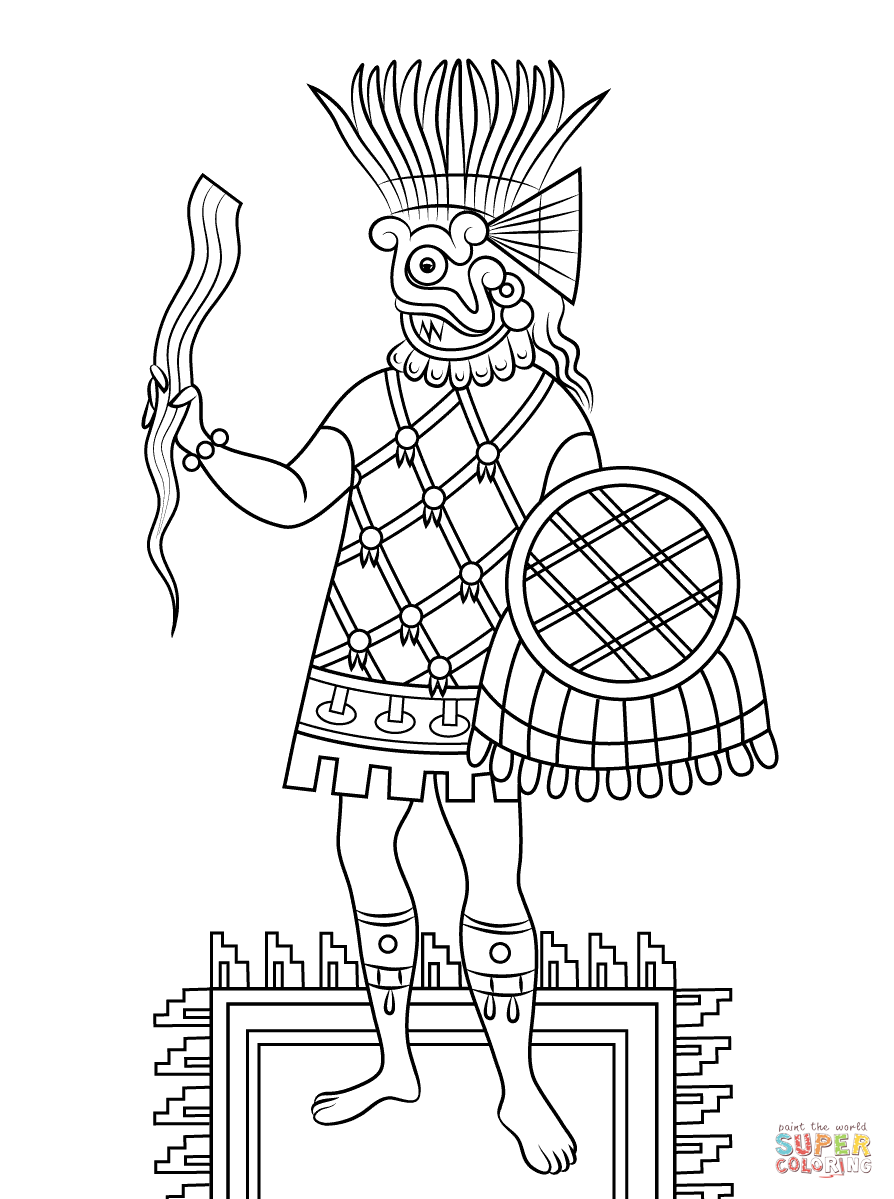 894x1199 Aztec Art Coloring Pages Free Coloring Pages