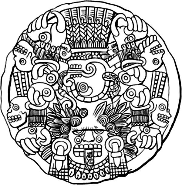 600x615 Aztec Warrior Princess Coloring Pages Aztec Warrior Princess