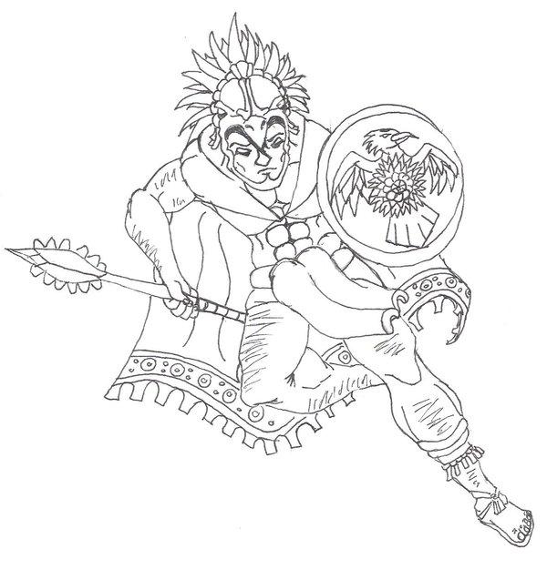600x637 Aztec Warrior By Destinydrako