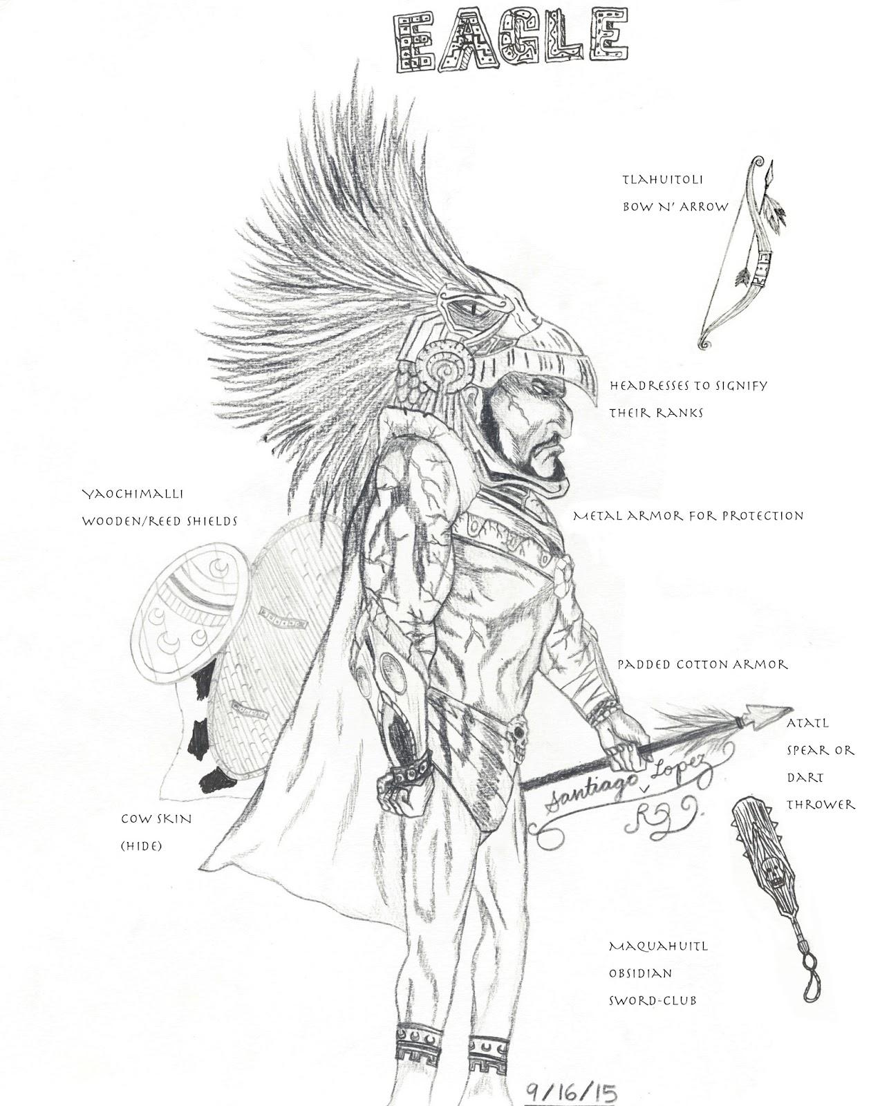 1273x1600 Santiago Evolution Of An Artist Aztec Warrior