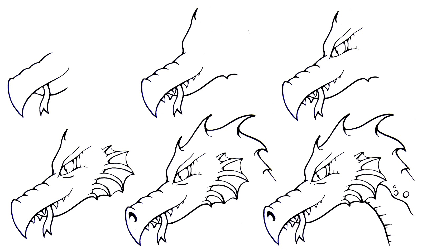 1600x948 How To Draw A Dragon Step By Step Daryl Hobson Artwork