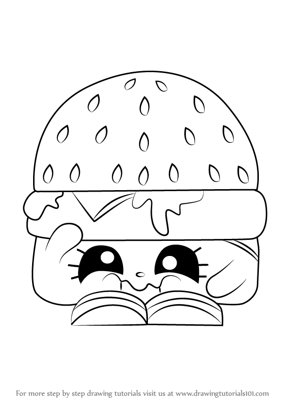 596x843 Learn How To Draw Cheezey B From Shopkins (Shopkins) Step By Step