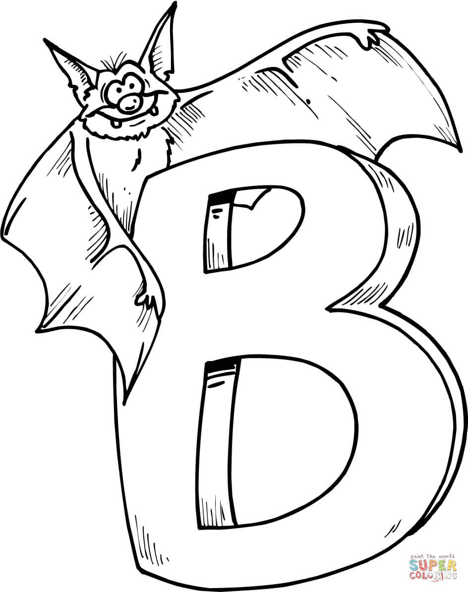 944x1194 Letter B Is For Bat Coloring Page Free Printable Coloring Pages